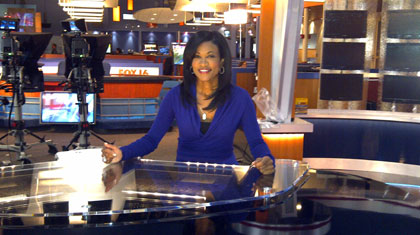Donna Terrell On the FOX16 News set